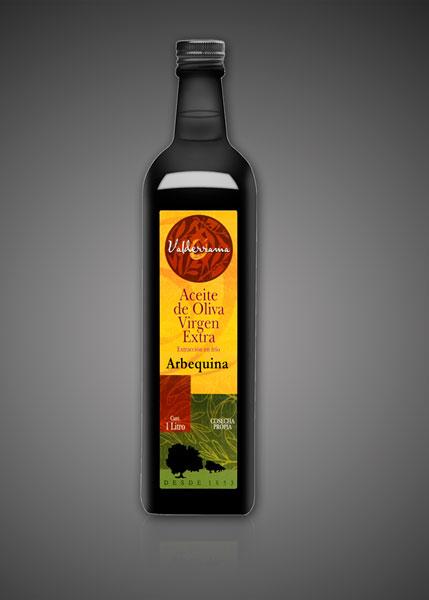 1 liter fles Arbequina olijfolie van Valderrama