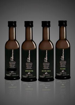 Tafelflesjes van Valderrama Olijfolie - Arbequina, Hojiblanca, Picudo & Vinegar sherry azijn 'Vinagre de Jerez' van het huis Don Millán