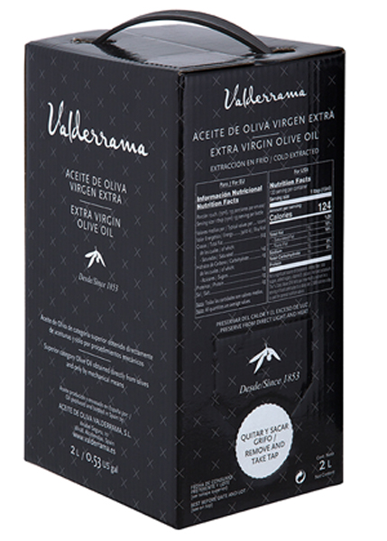Arbequina van Valderrama Olijfolie 2 liter Bag in Box